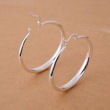 Women's Fashion 925 Silver Hoop Stud Dangle Earrings Wedding Anniversary Jewelr