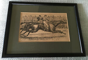 Horse Racing Print. Coventry Races. Lithograph. Drawing.