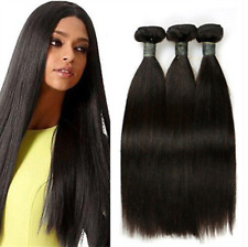 3bundles 150g  100% Unprocessed Brazilian Straight Wave Human Hair Extensions