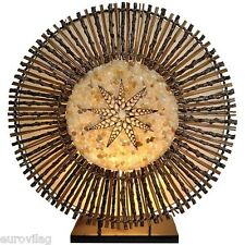 STAR elegante Tischlampe BALI LAMPE handgefertigt 40 cm Zweige Rattan Muscheln