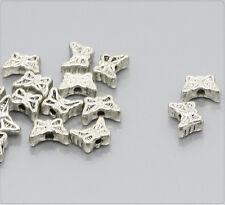 20x Tibetsilber Metallperlen 5x7mm Schmetterling ms272