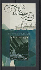 Liberia 2012 MNH Titanic 100 Year Anniversary 1v S/S RMS Ships Boats Stamps