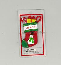 Itsy Bitsy Stocking Ornament ~ CATHERINE ~ SNOWMAN ~ Stocking Stuffer ~