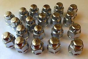 20 Pontiac Rally Mag Rim Chrome Wheel Bulge Acorn Lug Nuts 12 X 1.50mm NOS