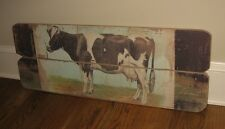BiG DAIRY Milking COW Wall PICTURE*Primitive/French Country Farmhouse Barn Decor