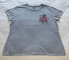 Suicide Squad Harley Quinn Ladies Grey Printed Short Sleeve T Shirt Size XL New