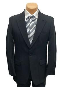 Men's Black Stroller Suit Jacket Morning Dress Stresemann Formal Day Wedding 38R
