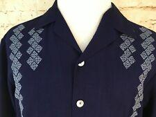 Da Vinci Signature Series Charlie Sheen SIZE LARGE Stitched Camp Shirt Size L