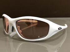 Oakley Encounter Sunglasses Polished White Plastic Frames Pink Lenses USA Made