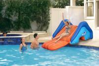 H2OGO! Splash Giant Inflatable Pool Water Slide Outdoor 8ft Play Center Backyard