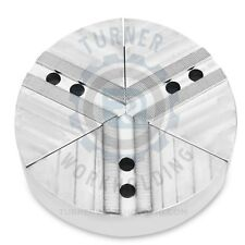 """TURNER STEEL ROUND FULL GRIP PIE SOFT JAWS 8"""" KITAGAWA CHUCK (B208) 2""""HT 3PC SET"""
