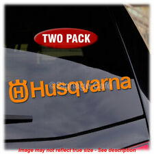 TWO PACK - Husqvarna Logo- Vinyl Decal Sticker Motorcycle Chainsaw