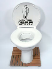 starwars style 3 may the force Toilet Seat Sticker Fun Decal Vinyl Sticker