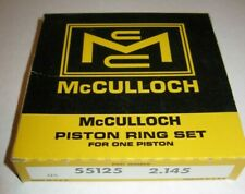 Vintage McCulloch 55125 Piston Ring Set +0.20 2.145 Thick Mc 5 10 49 Go Kart NOS