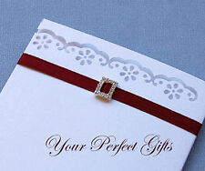 24 RECTANGLE Wedding Invitation Rhinestone Buckle Slide