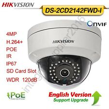 Hikvision DS-2CD2142FWD-I 4MP IP Dome Camera POE WDR120dB IR HD SD IP67 H.264+