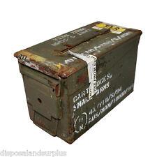 "50 CAL Ammo Box Ammunition Steel Box Tool Box Ex Army Used ""GRADE B"""
