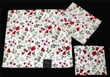 3-Pc Laura Ashley SPRING BLOOM Floral Velour Bath, Hand Towel & Wash Cloth NWT