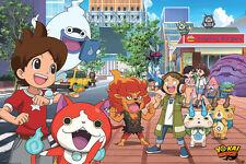 YO-KAI WATCH STREET 24x36 poster YOUKAI NINTENDO GANSO HONKE BUSTERS BRAND NEW!!