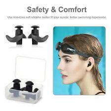 5/10 Pairs Silicone Ear Plugs Waterproof Hypo-allergenic Earplug Swimming w Case