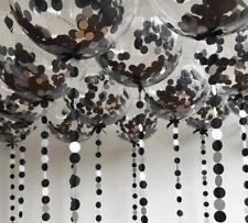 Balloon Confetti Silver Black Birthday Party Wedding Garland Tissue Giant 2ft
