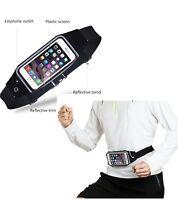 Sports Elasticated Black Waist Belt Bum Bag Jogging Running Pouch Mobile Unisex