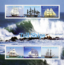 Central African Republic 2016 MNH Tall Ships 6v M/S Sailing Boats Stamps
