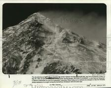 1953 Press Photo Summit of Mount Everest featured on National Geographic special