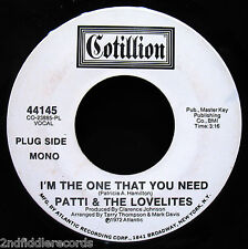 PATTI & THE LOVELITES-I'm The One That You Need-Northern Soul DJ 45-COTILLION