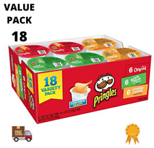 Pringles Snack Stacks Potato Crisp Chips Flavored Variety Pack Original 18 Pack