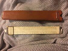 K&E Keuffel & Esser 12 Inch Slide Rule 4081-3 with Leather Case