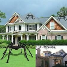 Big Spider Halloween Decoration Haunted House Prop Indoor Outdoor Black Giant UK