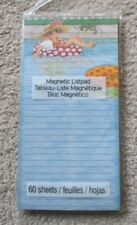 Mary Engelbreit Magnetic List Note Pad Inner Tube Girl Cat Pool Summer Vacation