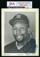 Kirby Puckett Jsa Coa Autograph Hand Signed 4x5 Twins Team Issued Photo