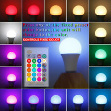 RGB 16 Colour Changing Remote Controlled LED Light Bulb 3/5/10/15W E27 For Home
