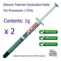 2 x Silicone GD66 Thermal Heatsink Processor CPU Paste Grease Tube / Syringe