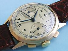 UNIVERSAL GENEVE 18K ROSE SOLID GOLD 1940S CAL 287 COLUMN WHELL RARE CHRONOGRAPH
