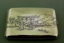 VINTAGE JAPANESE SHIBAYAMA -MIXED METALS STERLING SILVER CIGARETTE CASE