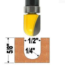"""1 pc 1/4"""" SH 1/2"""" Diameter Top Bearing Round Nose Router Bit  sct-888"""