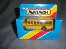 269B Vintage Matchbox 1981 MB 47 Bus School Bus School District 2 US 1:76