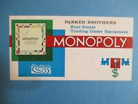 Monopoly Board Game Parker Brothers 1961
