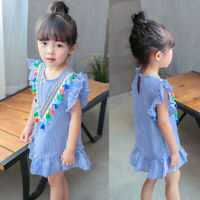 Toddler Baby Kids Girl Princess Summer Casual Party Prom Dress Sundress Clothes
