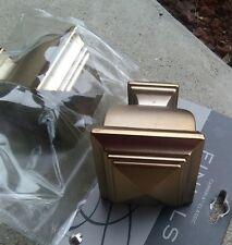Cambria Classic Warm Gold Metal Napoleon Finials window 5/8 rod NEW 2 square