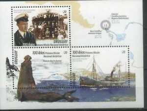 Uruguay 2016 Antarctica, Ships, Fauna MNH**