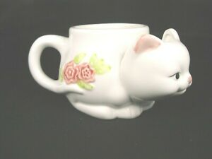 For the Cat Collector...Vintage Cat Teacup with Teabag Holder