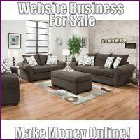 Fully Stocked LIVING ROOM FURNITURE Website Business|FREE Domain|Hosting|Traffic
