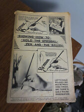 1941 VINTAGE SHOWING HOW TO HOLD THE SPEEDBALL PEN & BRUSH 87 PAGE BOOK