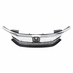 2016-2017 Honda Accord Front Lower Bumper Cover Grille; For Sedan Models; Without Collision Warning; Black Textured Finish; Made Of Pp Plastic Partslink HO1036126C