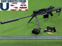 "1/6 Weapon Model Black Barrett M82A1 SASR Sniping ZY For 12"" Action Figure USA"