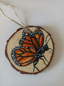Handmade wooden gift ornament, gift tags, Christmas tree decorations, butterfly